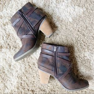 Crown Vintage Brown Distressed Suede Brown Booties